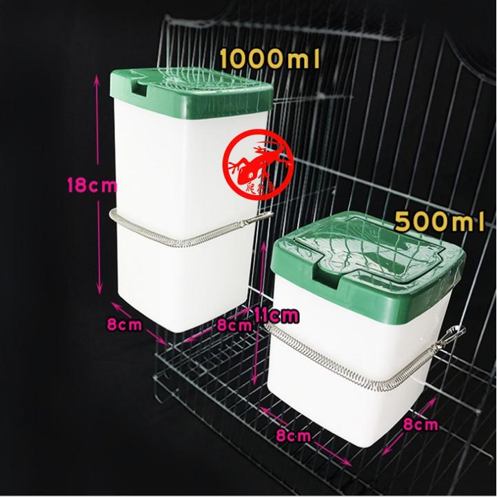 小寵方形大容量水壺 500ml 1000ml 豚鼠 天竺鼠 龍貓 小寵專用方形水壺