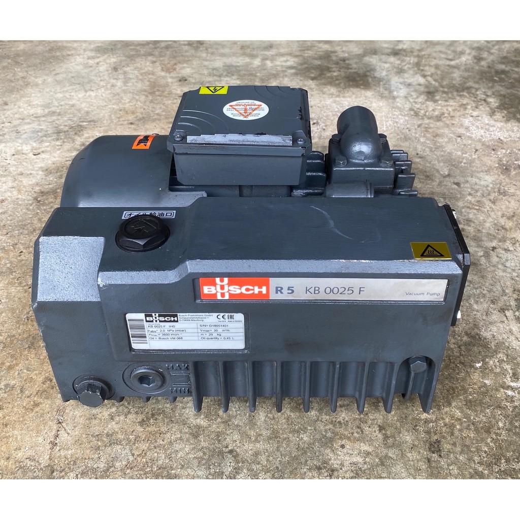 德國製BUSCH R5 0025 1HP單級旋片式真空幫浦/真空機---真空包裝/真空脫泡機可用(外匯品真空度超優)