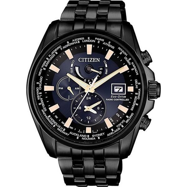 CITIZEN 星辰 光動能電波 海中晨曦亞洲限定款 男錶 AT9039-51L 黑鋼 44mm