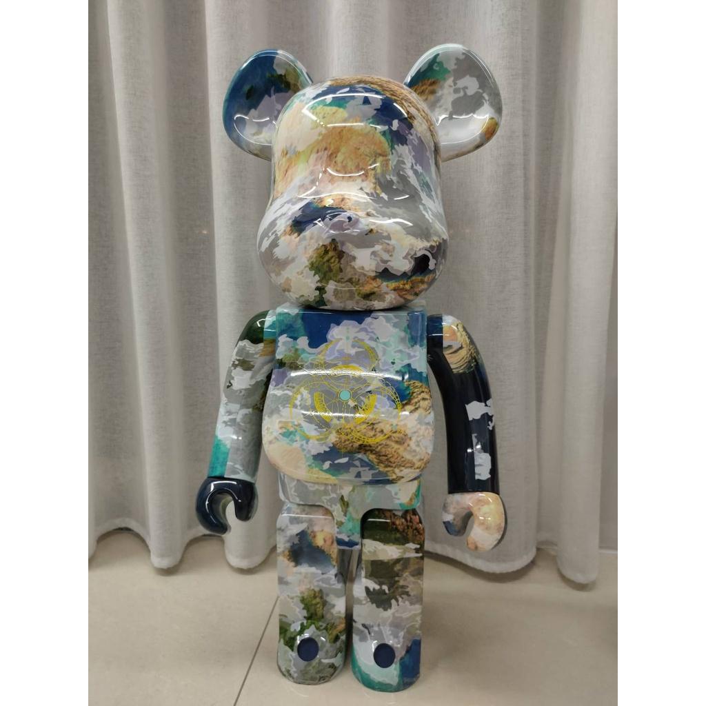 限量 BE@RBRICK 上海地球 1000% 彩盒 積木熊 暴力熊 庫柏力克熊 高雄現貨