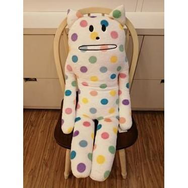 日本帶回 CRAFTHOLIC宇宙人彩色點點貓大抱枕