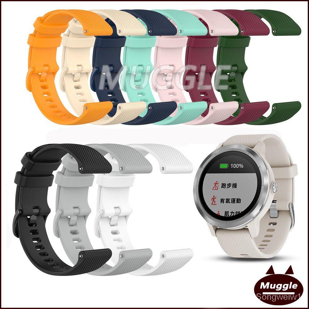 Garmin vivolife悠遊卡智慧手錶錶帶 替換腕帶 vivolife小格紋錶帶 矽膠錶帶 手腕帶 UMTY