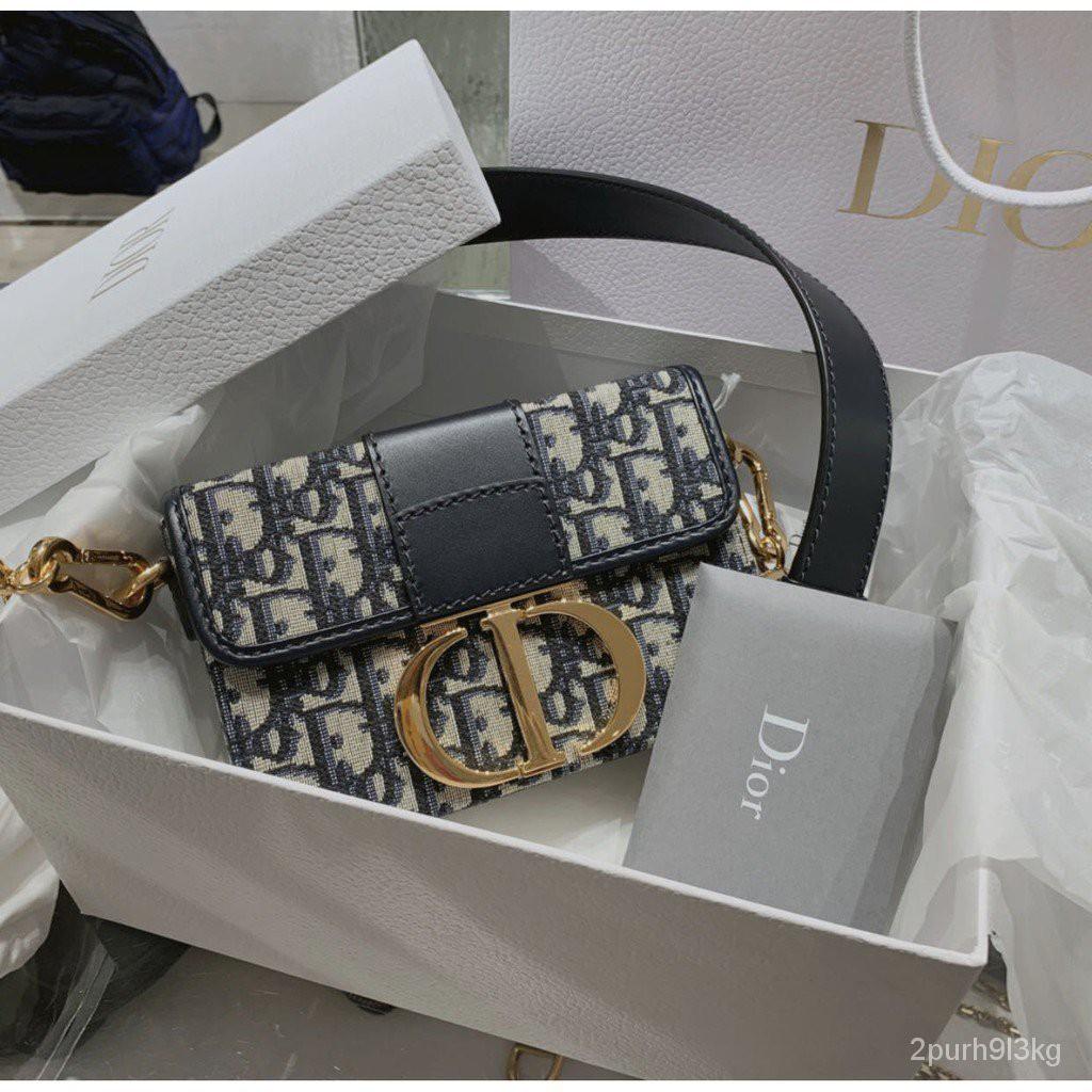 【海外正品代購】全新品 Dior 30 Montaigne mini box 蒙田包 老花款 蒙田包 17cm E2j1
