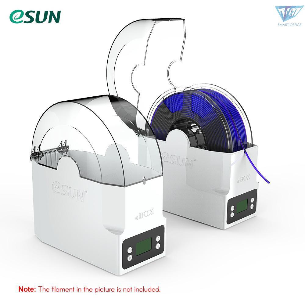 ▲ eSUN eBOX 打印耗材盒子保持耗材乾燥測量耗材重量英規電壓100-240V