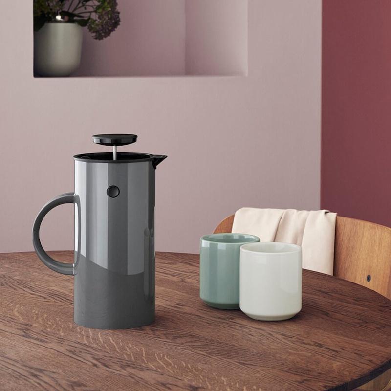 🎇闆娘推薦🎇丹麥進口stelton北歐經典啄木鳥手沖咖啡壺家用保溫濾壓壺法壓壺