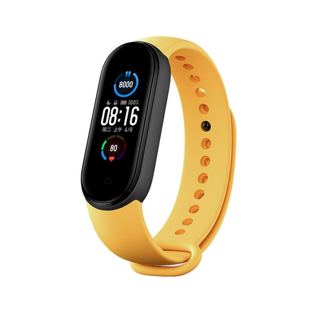 ☸適用於小米手環5錶帶 Mi Band 5/6小米手環6運動替換錶帶 小米手環3/4官方原裝矽膠錶帶