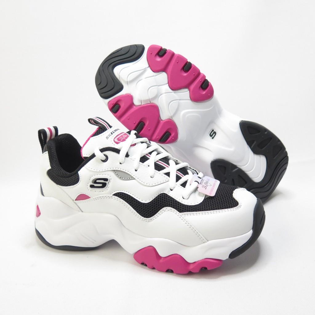 Skechers D LITE 3.0-CATCH休閒鞋 88888398WBHP 女款 白黑桃粉【iSport愛運動】