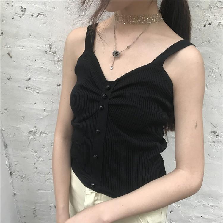 【限時下殺】新款韓版夏季裹胸上衣女外穿小可愛短版性感針織無袖背心