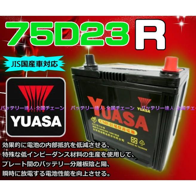 【電池達人】YUASA 湯淺 75D23R 汽車電瓶 LUXGEN 納智捷 U6 S5 U7 M7 LEGACY 速霸陸