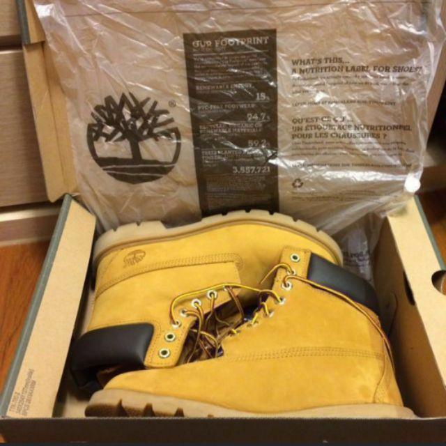 全新正品(美版)Timberland 經典黃靴(US7=UK6.5=EU40JP25(真正全生膠底質輕,不是ㄧ般三層底)