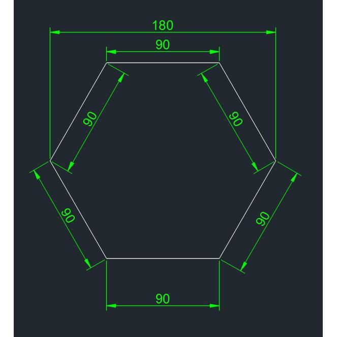 透明壓克力板 2mm厚 雷射切割 正六邊型 18cm寬的 165片5775元 郵寄運費120元
