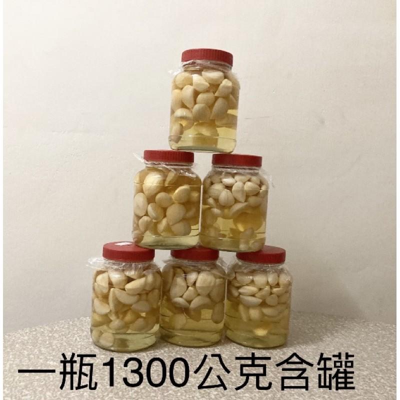 手釀蒜頭醋 原產地:/台灣/雲林 成份:蒜頭/冰糖/糯米醋 含罐量/1300公克上下 內容量/ 900公克