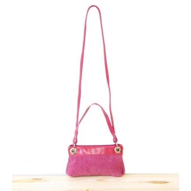 [Happa] 手拿/斜背兩用隨身小包-石洗帆布經典款(Raspberry 野莓粉)