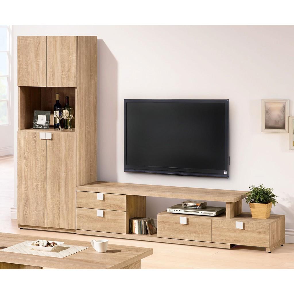 【205~284cm伸縮L型電視櫃-A359-2】客廳組合長櫃 展示收納櫃 北歐工業風 TV櫃 【金滿屋】