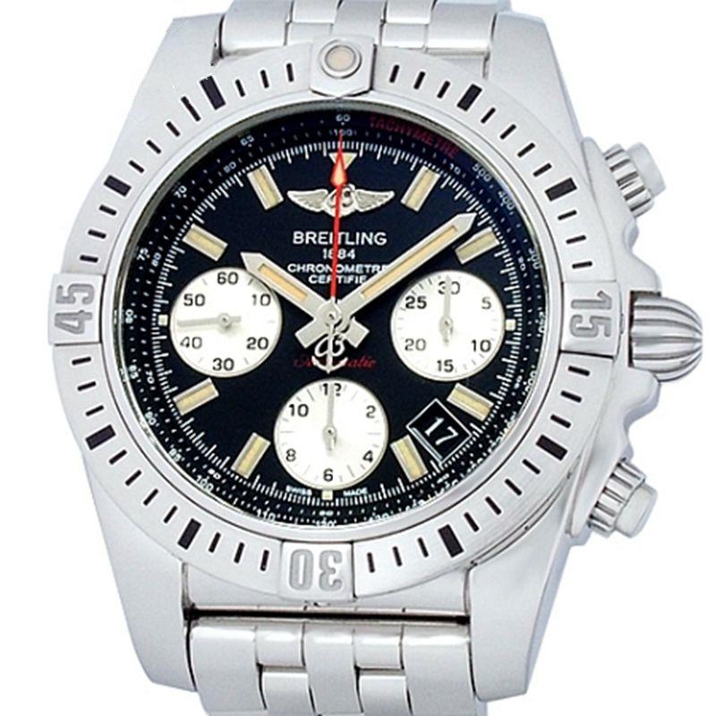 ◤奢侈手錶◢Breitling百年靈王牌飛行員男錶自動機械AB0144瑞士原裝正品99新