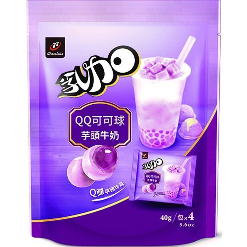 77乳加QQ可可球(芋頭牛奶)160g  【大潤發】