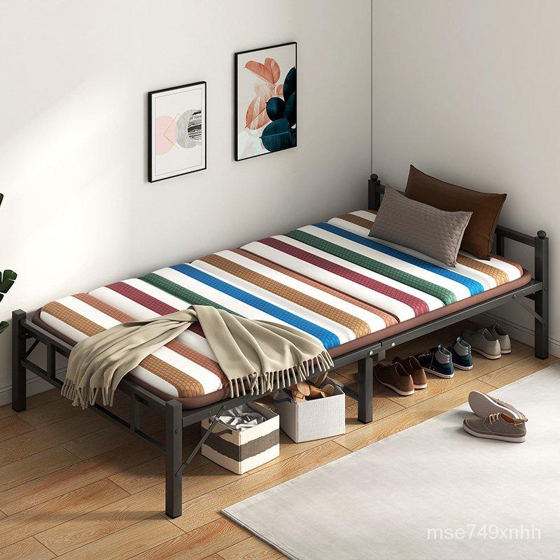 新款簡易折疊折疊午休床【免運】折疊床簡易雙人出租房便攜1.2米辦公室午睡單人床家用午休硬板床