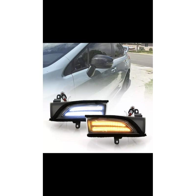 Subaru 專用 森林人 XV WRX STI levorg後視鏡二合一日行燈+流水方向燈
