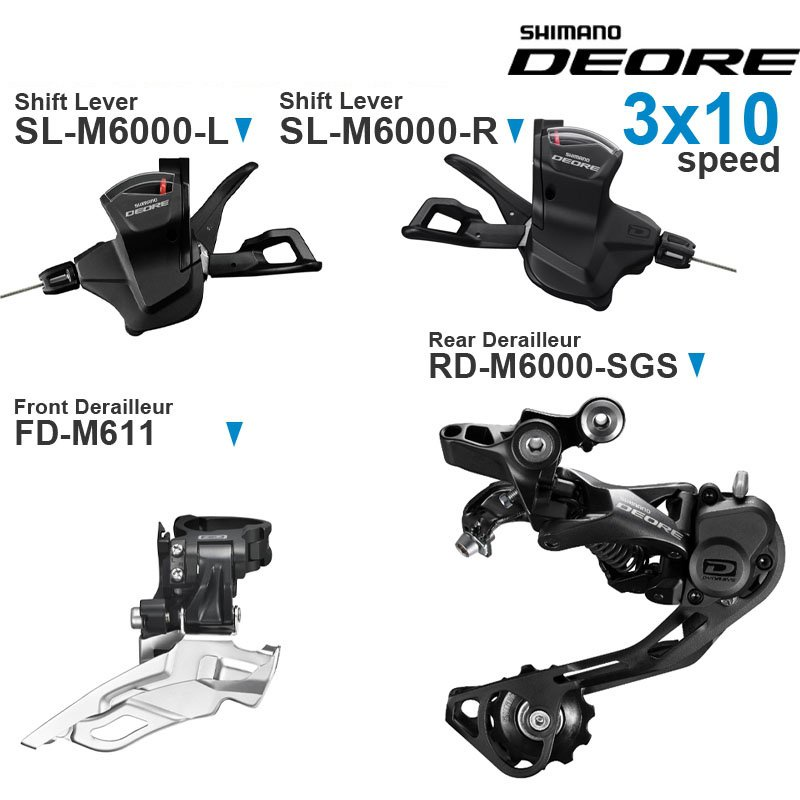Fast delivery SHIMANO DEORE M6000 3x10v Groupset with Left