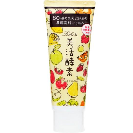 出清 日本 LOSHI 美活酵素 泡泡潔面乳 150g 添加80種果實與野草的濃縮發酵萃取 潔膚慕斯 泡泡洗面乳