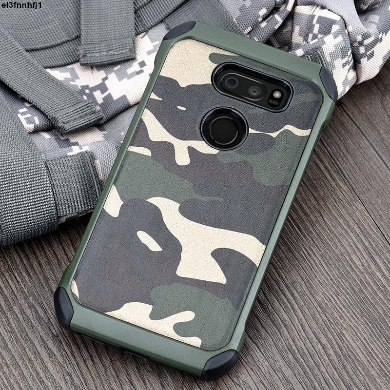 Lg G7 手機殼 G7 G8 後蓋的迷彩圖案保護套