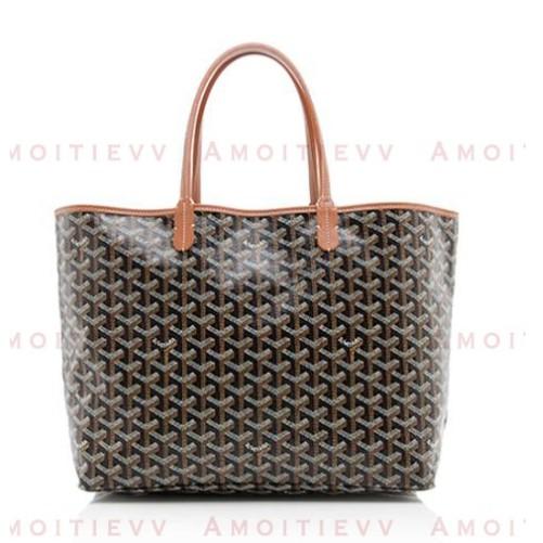 🇫🇷 法國 Goyard St. Louis shopping Bag GM中型 黑色+咖啡邊購物包