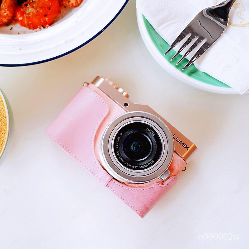 相機配件# 真皮鬆下GF10相機包Panasonic gf10皮套保護套手柄 牛皮 sOZd