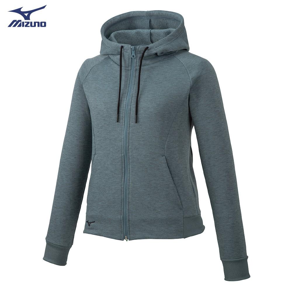 MIZUNO 女裝 外套 套裝 連帽 針織 口袋 內刷毛 保暖 灰【運動世界】 32MC985706