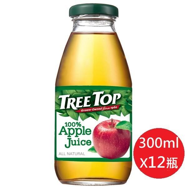 TREE TOP 樹頂100%蘋果汁 蔓越莓綜合果汁300mlX12瓶(玻璃瓶)【2種口味任選】