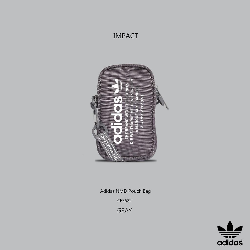 e809797ce1 IMPACT Adidas NMD Pouch Bag 灰三葉草側背包斜肩包小包超實用男女CE5622 ...