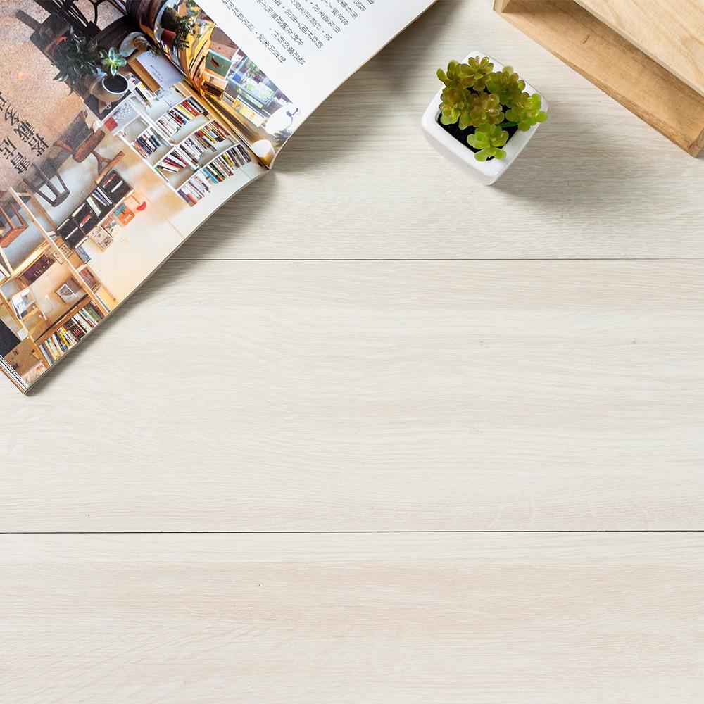 DIY乳白蠟木地板貼 宜家寶 10/20/40片 優惠價 自黏地板 地板貼 耐磨防水 木紋地板 阻燃【MM-Q005】