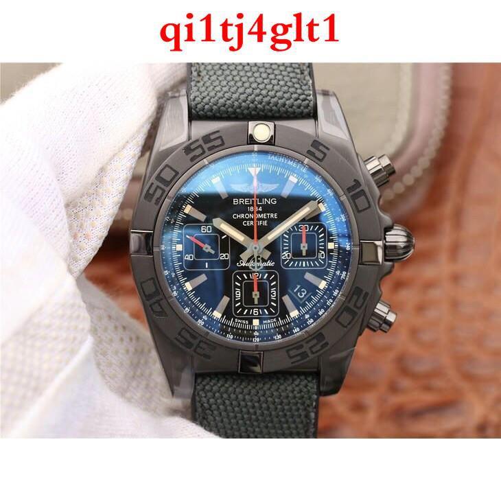 正品Breitling 百年靈 全自動機械腕錶 黑鋼 計時錶 男士腕錶  免運