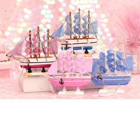 【快速出貨】小新家居館書桌裝飾小擺件帆船模型少女心學習桌可愛網紅生日禮物房間裝飾品