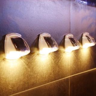 8LED戶外太陽能壁燈別墅花園裝飾防水太陽能電源燈小夜燈太陽能路燈圍牆燈裝飾燈