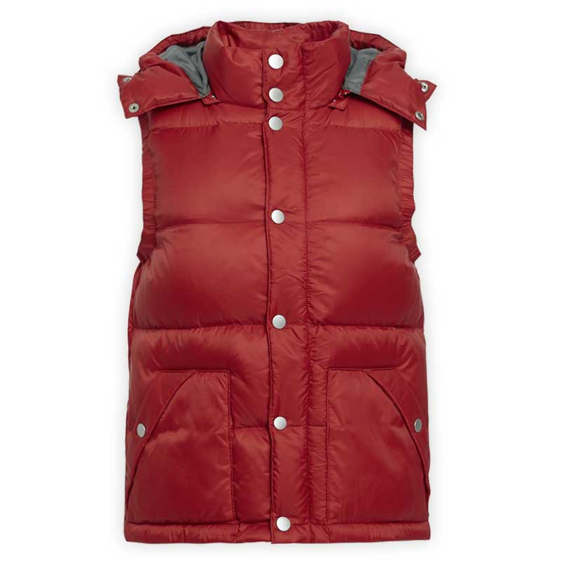 【ERSS】羽絨背心 - 女 紅色 灰褐 紫褐 K10030