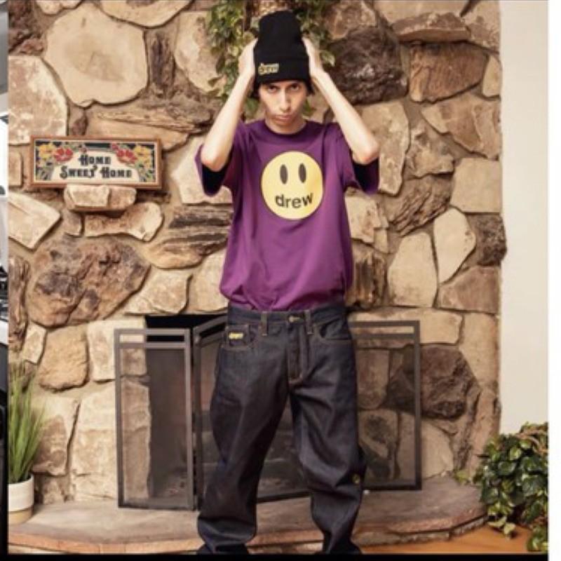 代購美國新色正品DREW HOUSE JUSTIN笑臉 小賈斯汀比伯 短袖T恤  潮流 oversize