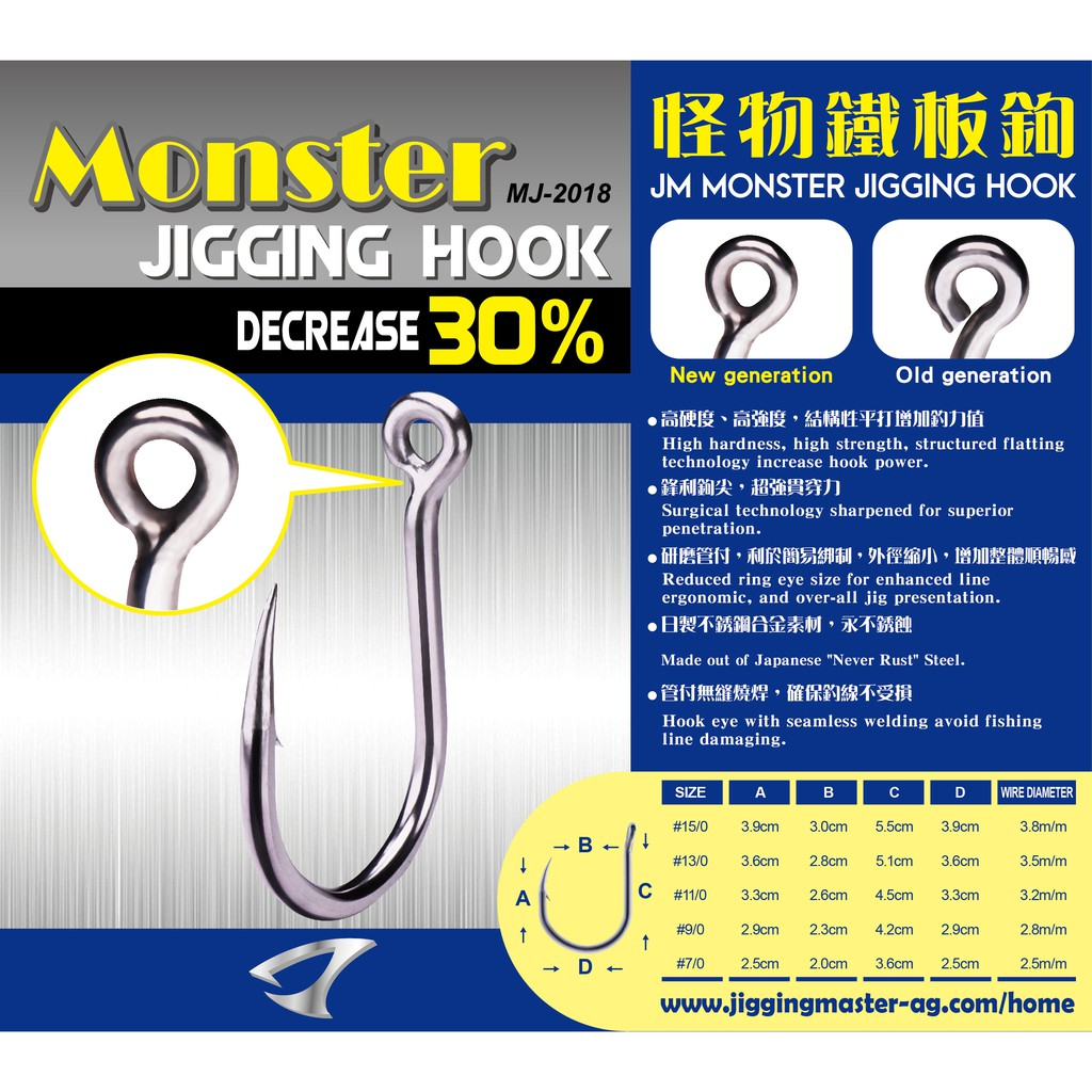 Jigging Master 怪物鐵板鉤