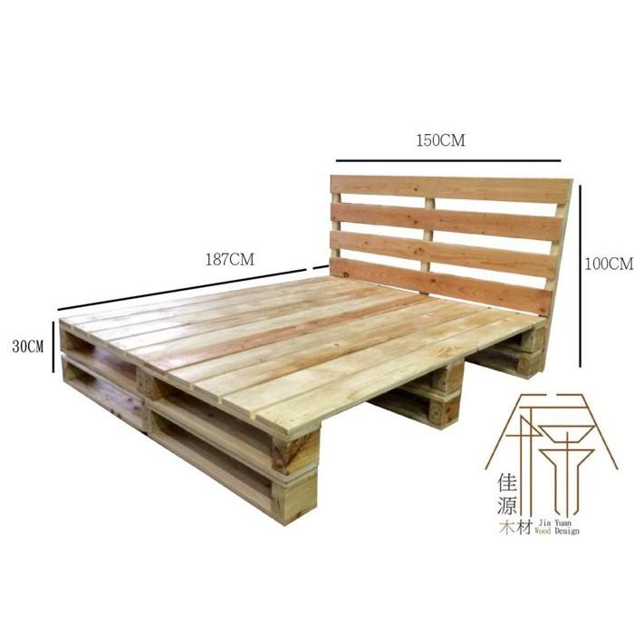 """佳源 """" 棧板 工業風 床架 原木 實木 床墊 雙人床 單人床 DIY 客製 訂做 客訂 工廠直營 木箱 北歐"""