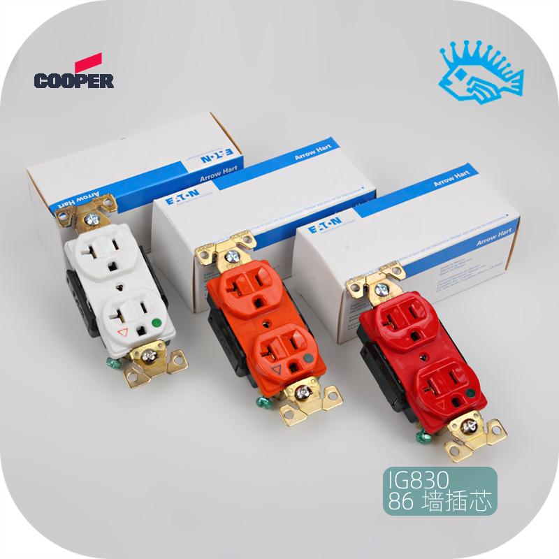 全新美標電源插座 COOPER  IG8300 發燒HIFI音響 86墻插芯