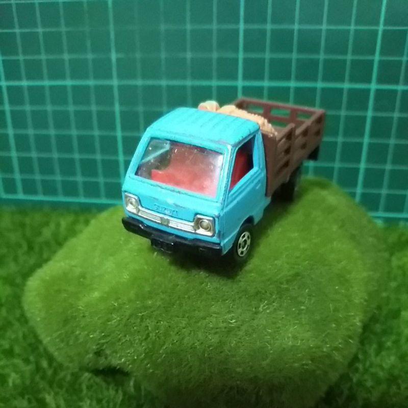 日本製TOMICA 載豬車SUZUKI CARRY家畜搬運車附膠盒