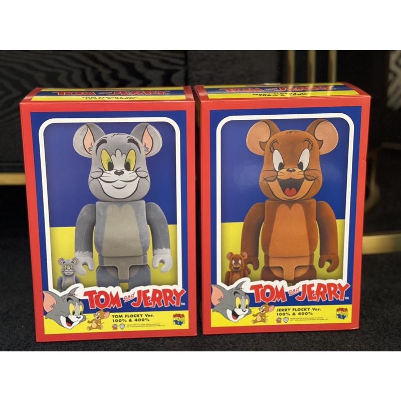 全新現貨Be@rbrick 400%+100%Tom & Jerry湯姆貓與傑利鼠一組 植絨款🌟庫柏力克熊