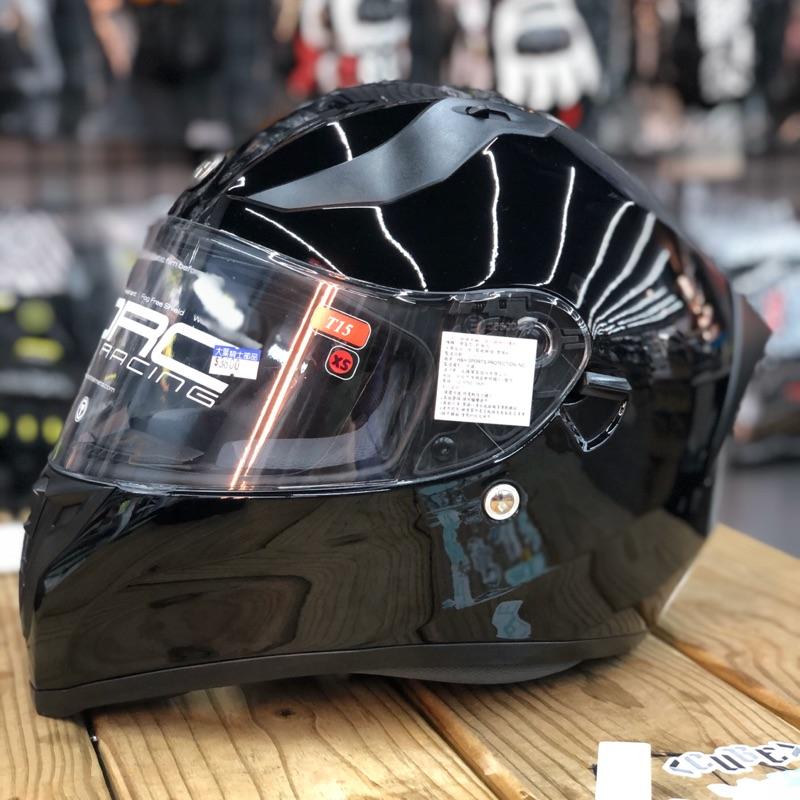 TORC T15 素色 黑 亮黑 全罩 安全帽 內墨鏡 雙D扣