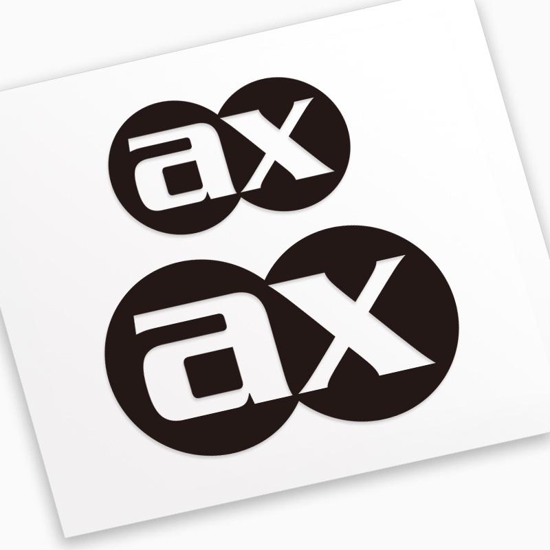 AX ax-lightness貼紙公路車山地車架輪組輪圈把立座管座桿款式2