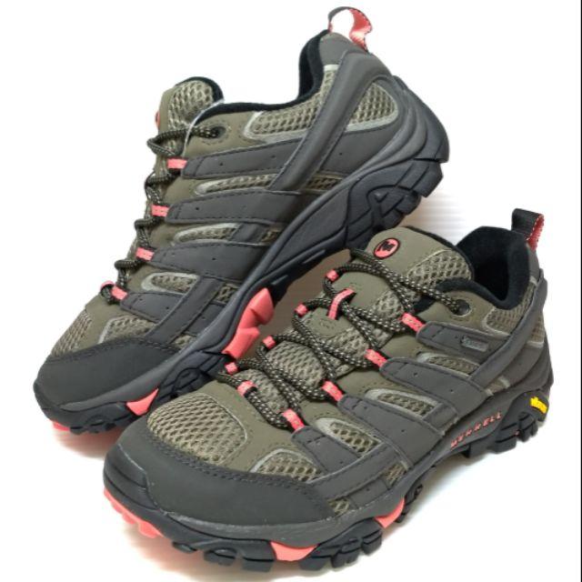 ✩Pair✩ MERRELL MOAB 2 GTX 登山健行鞋 J41106 女鞋 防水透氣 黃金大底耐磨程度佳