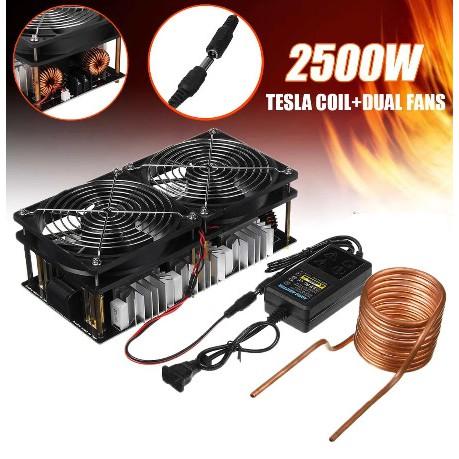 大功率W高頻機2500加熱高頻  zvs感應抽頭中頻爐淬火  無高頻 kntF