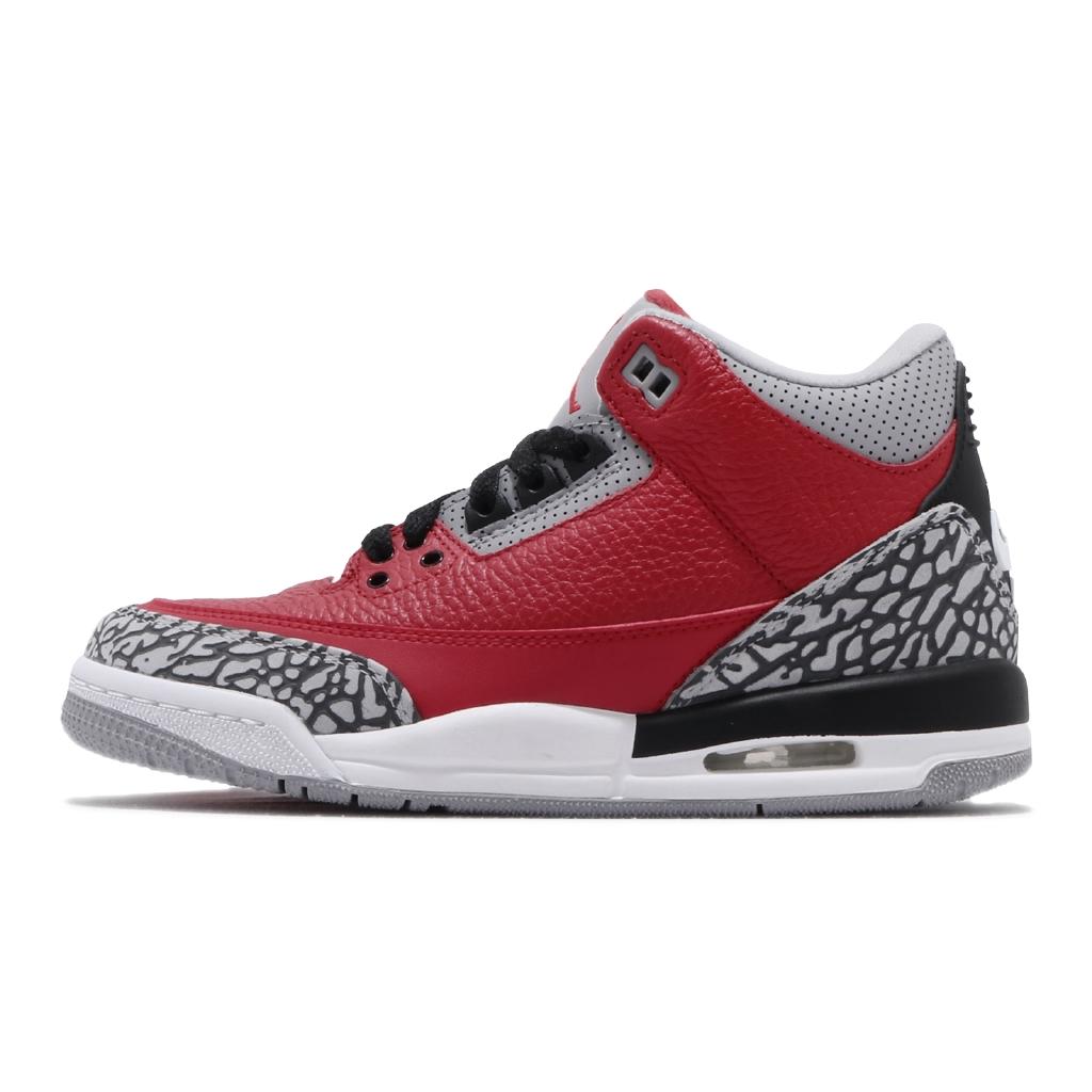 【ACS】 Nike Air Jordan 3 Retro 紅 灰 黑 女鞋 籃球鞋 AJ3 三代 CQ0488-600