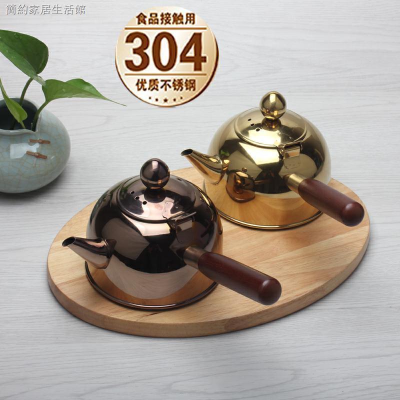 包郵304不銹鋼燒水壺平底煮水壺側把壺野外煮水壺功夫茶道電磁壺