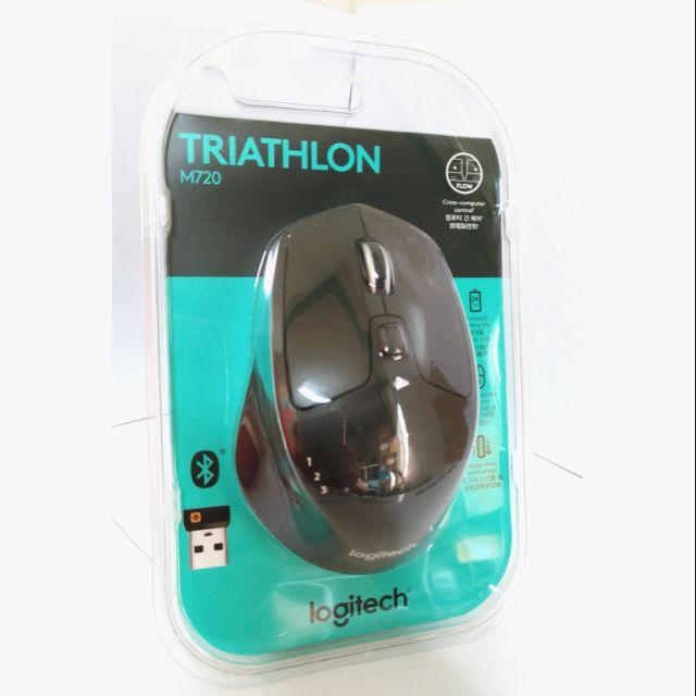 現貨✲羅技M720無線滑鼠Triathlon臺灣公司貨Logitech Unifying接收器藍芽滑鼠多工