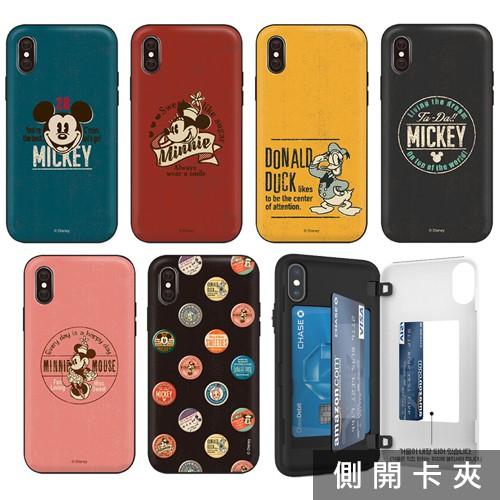 韓國 迪士尼 古著風格 手機殼 磁扣卡夾│S21 S20 Ultra + FE S10 S10E S9 S8
