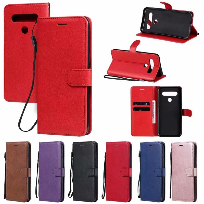 LG手機純色簡約翻蓋皮套 G7 G8 G8S G8X ThinQ G9 G900 Velvet Q60 K50 保護殼